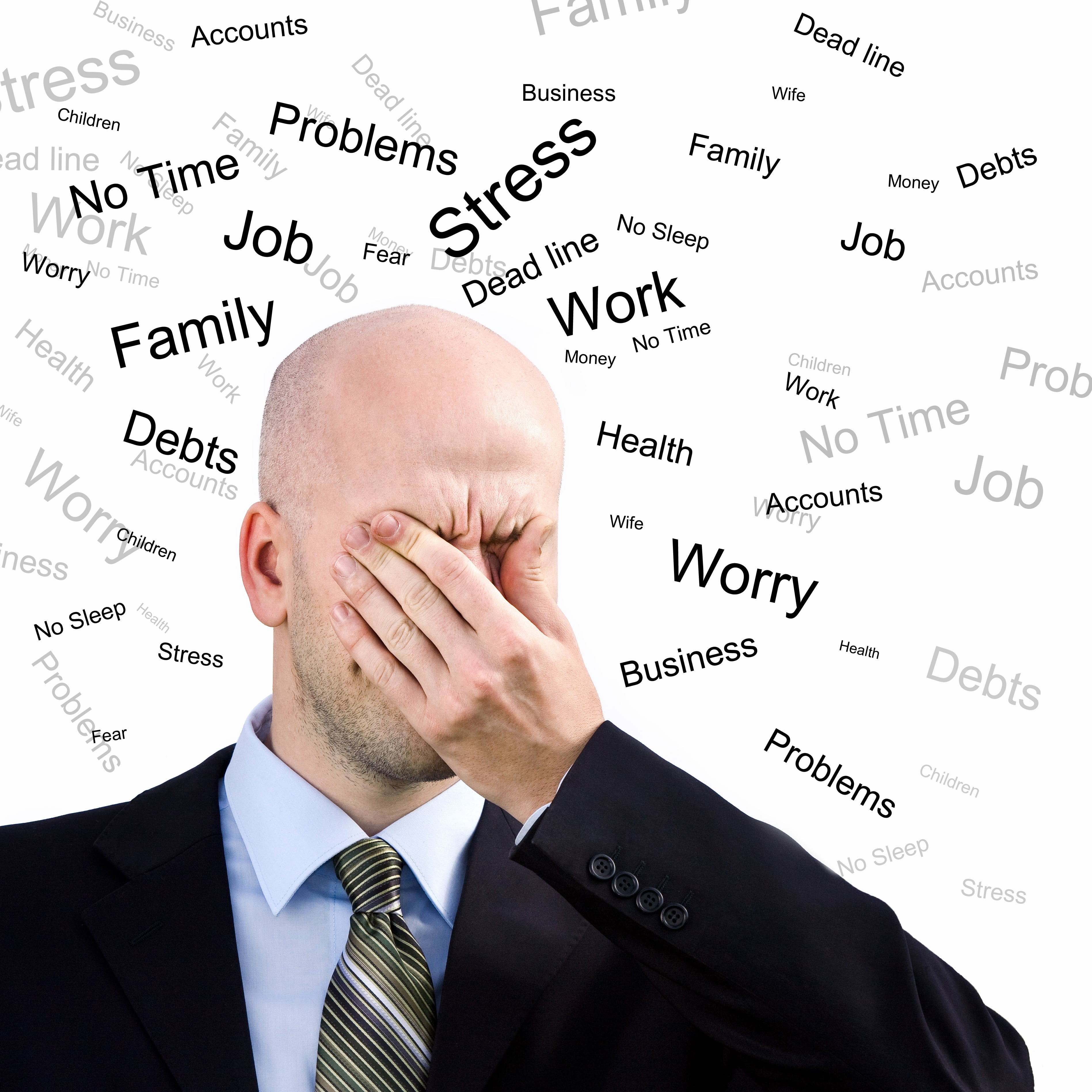 Stress Man. Businessman  suffers from a headache
